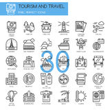 TOURISM AND TRAVEL , thin line icons set Stock Photography