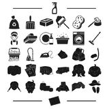 Tourism, trip, hygiene and other web icon in black style.letter, postcard, rest, icons in set collection. Stock Photography