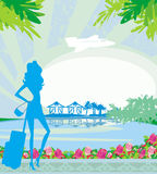 Tourism on a tropical vacation Royalty Free Stock Photos