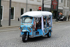 Tourism Tuk-Tuk in Porto, Portugal Royalty Free Stock Image