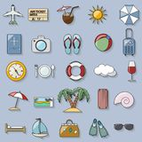 Tourism and vacation retro icons Royalty Free Stock Image