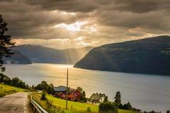 Landscape near Utvik on the Nordfjord Norway Stock Images