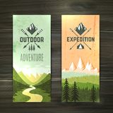 Tourism vertical banners set Stock Photography