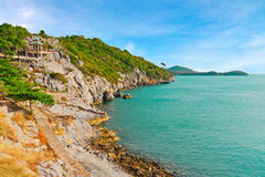 Tourism view of coastline in tropical sea of Thailand royalty free stock images