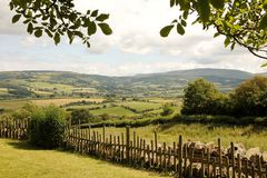 Tourism Wales: Beautiful scenery in rural Wales Stock Image