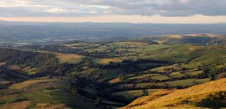 Sunset at Brecon Beacons: Beautiful scenery in rur Royalty Free Stock Photography
