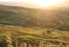 Sunset at Brecon Beacons: Beautiful scenery in rur Stock Photography