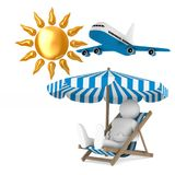 Tourism on white background. Isolated 3D illustration.  Stock Photography