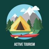 Tourisme actif Photo stock