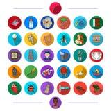 Tourisme, affaires, art, industrie et toute autre icône de Web dans le style plat écologie, médecine, histoire, icônes dans la co illustration de vecteur