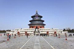 Tourisme chez le temple du Ciel, Pékin, Chine Photographie stock libre de droits