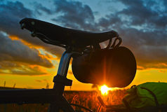 Tourisme de bicyclette Photos libres de droits