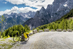 Tourisme de bicyclette en Slovénie Image libre de droits