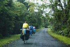 Tourisme de la bicyclette photos libres de droits