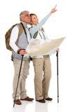 Tourisme de la carte guidée de couples Images stock