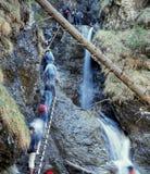 Tourisme de montagnes Photographie stock libre de droits