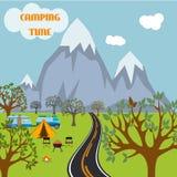 Tourisme de tente de nature de voyage d'aventure de camp Images stock