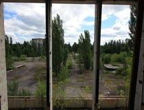 Tourisme extrême à Chernobyl Image libre de droits