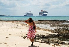 Tourisme grand de caïman Photos stock