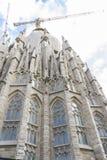 Tourisme, temple en construction de Sagrada Familia, Barce Photo libre de droits