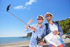 tourisme, voyage, les gens, loisirs et concept de technologie Image libre de droits