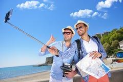 tourisme, voyage, les gens, loisirs et concept de technologie Photos libres de droits