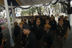 TOURISMUS-BUDGET INDONESIENS SÜDOSTASIEN Stockfotografie