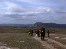 Tourismus in den Krimbergen lizenzfreie stockbilder