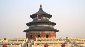 Tourismus, der um den Himmelstempel, Peking geht stock footage