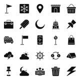 Tourismus lokalisierte Vektor-Ikonen verpacken, die leicht geändert werden oder redigieren können lizenzfreie abbildung