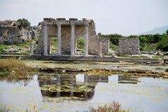 Tourismus in Milet Stockbilder