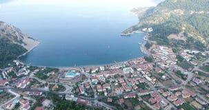 Tourismus-Stadtantenne die Türkei Marmaris Turunc stock video footage