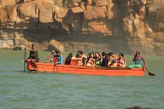 Tourismus und Bootfahrt stockfotografie