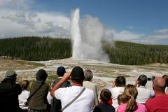 Tourismus in Yellowstone Lizenzfreies Stockbild