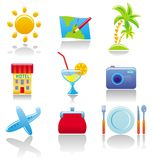 Tourist's icons Stock Images