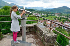 Tourist above the Bacque town Stock Images