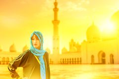 Tourist in Abu Dhabi Lizenzfreies Stockbild