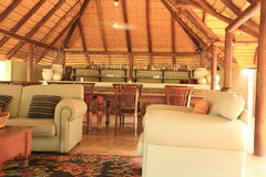 Tourist accommodation. Hall bed tends kruger sudafrica Royalty Free Stock Photo