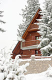 Tourist accomodation appartment winter. Tourist accomodation appartment house for winter holydays royalty free stock photo