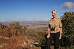 Tourist in Afrika stockfoto