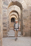 Tourist in ancient city Royalty Free Stock Images