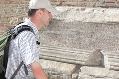 Tourist in ancient city Royalty Free Stock Photos