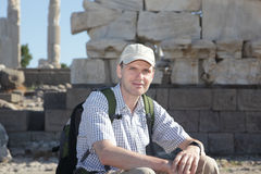Tourist in ancient city Royalty Free Stock Photography