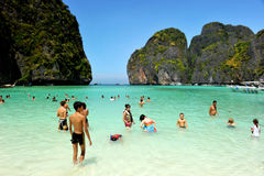 Tourist and the Andaman island beach Stock Photography