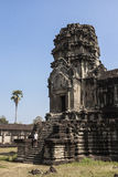 Tourist at Angkor Wat Royalty Free Stock Photography