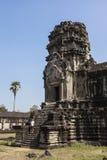 Tourist at Angkor Wat Royalty Free Stock Photography