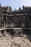 Tourist at Angkor Wat Royalty Free Stock Photo