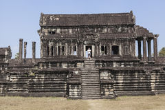 Tourist at Angkor Wat Stock Photo