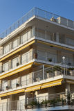 Tourist apartments balconies in Roc de Sant Gaieta, Spain. Royalty Free Stock Images
