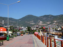 Tourist area in Alanya. Stock Photos